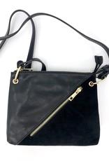 Crossbody Suede/Vegan Leather Bag