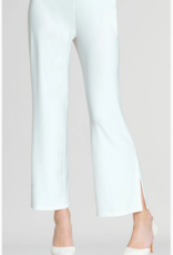 Clara Sun Woo Clara Sunwoo Solid Side Slit Ankle Pant - White