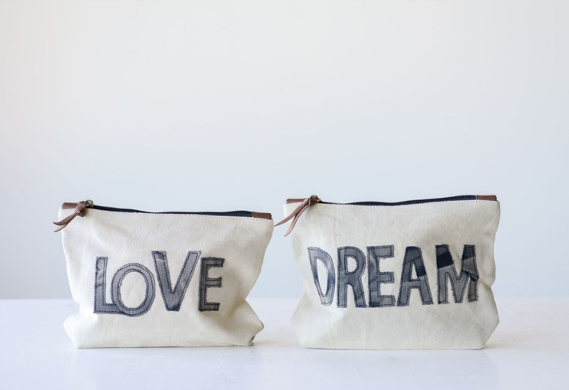 Creative Co-Op Creative Co-Op Love/Dream Pouch
