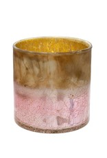 Indaba Rose Crackle Cylinder Pot