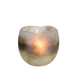 Indaba Metallic Tulip Votive Cream
