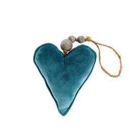 Indaba Velvet Heart Ornaments