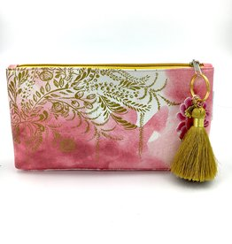 Papaya Small Tassel Pouch