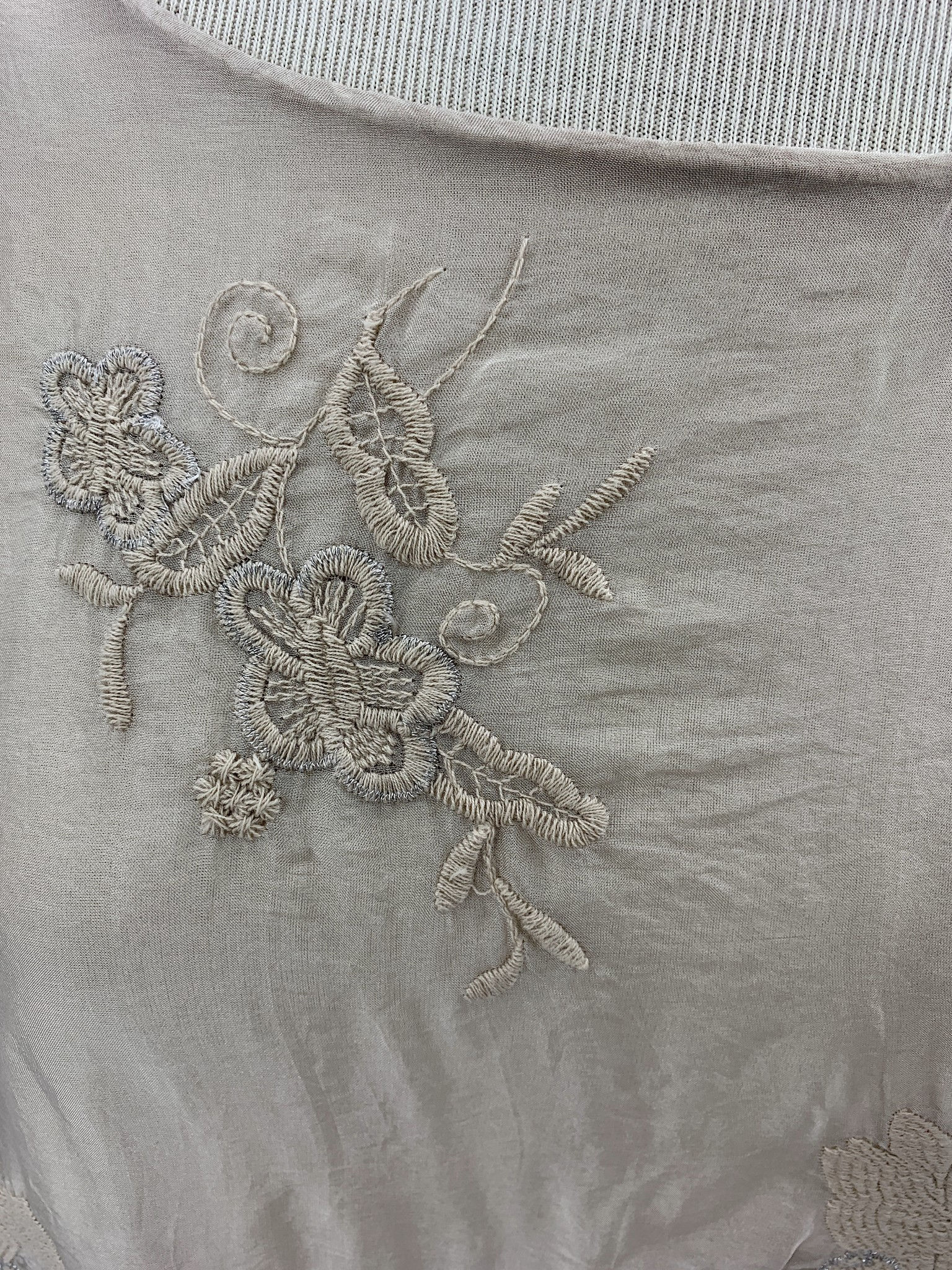 M. Embroidered Sleeveless Top