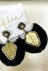 Allie Exotic Black Earrings