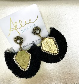Allie Exotic Black Earrings