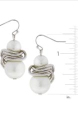 Susan Shaw Susan Shaw Silver/White Pearl Earring