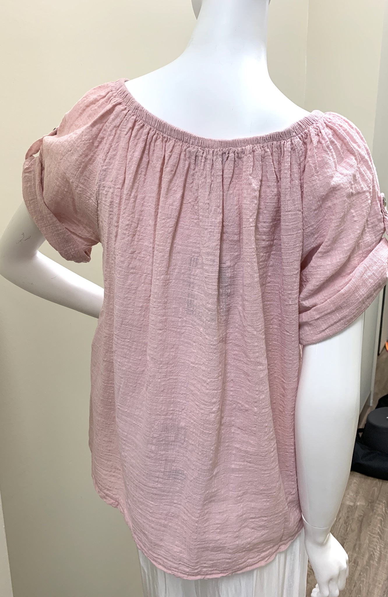 M. Embroidered S/S Top