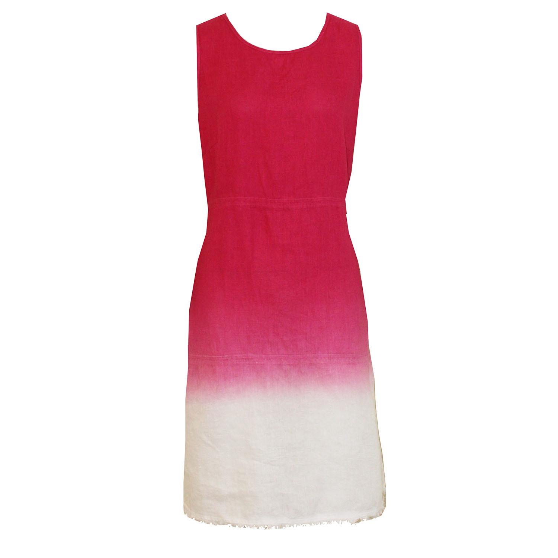 Pure Amici Dip Dye Linen Dress