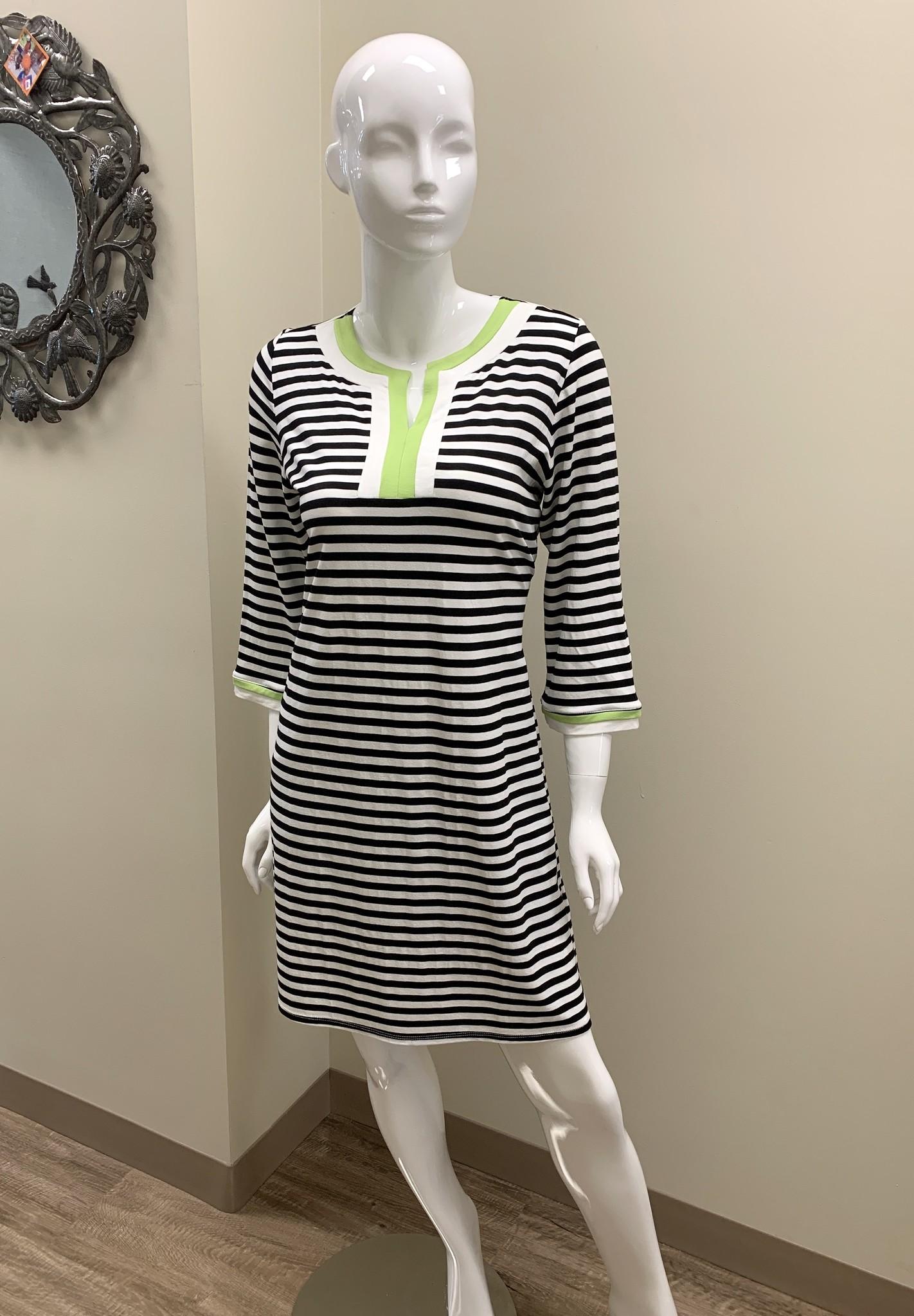 TATM Lime Black Dress