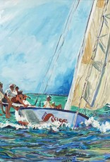 """Kim Rody """"Out Front"""" Giclee 5x7"""