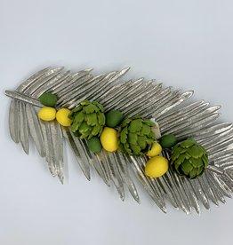 Zodax Silver Palm Tray