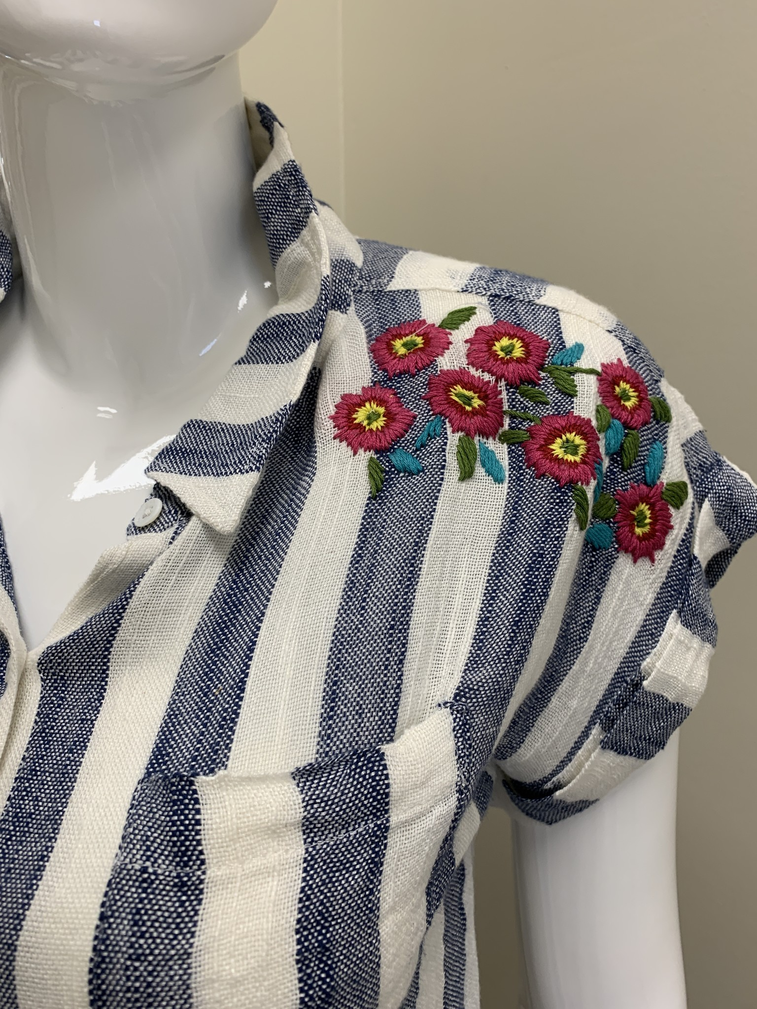 THML Gauze Embroidered Shirt