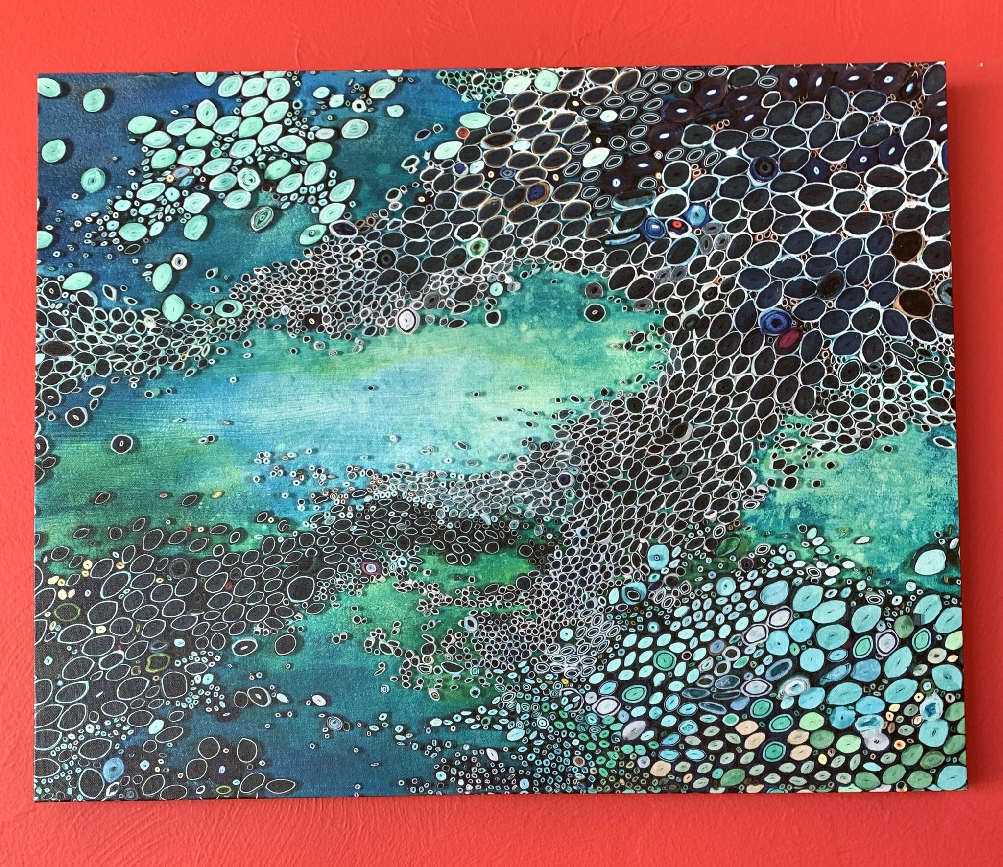 Aquatic Blues - Canvas Art 30x24