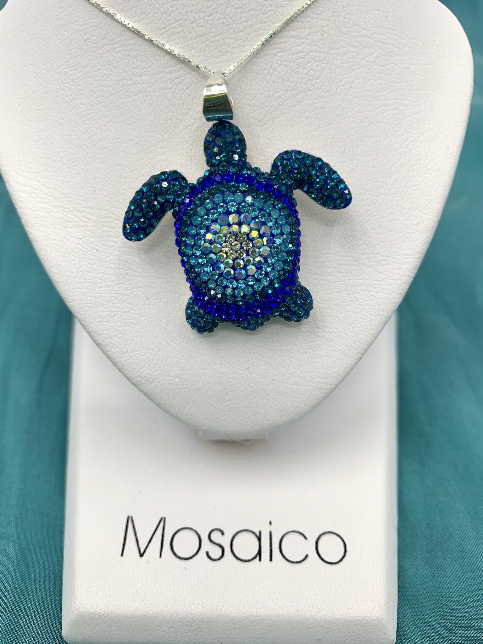 Mosaico Sea Turtle Necklace