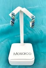 Mosaico Hoop Earring Blue Green