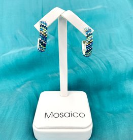 Mosaico Mosaico Hoop Earring Blue Green