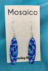 Mosaico Oval Earring Blues