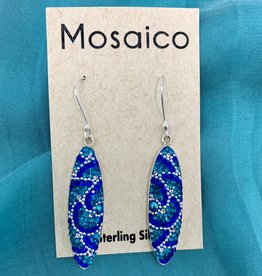 Mosaico Mosaico Oval Earring Blues