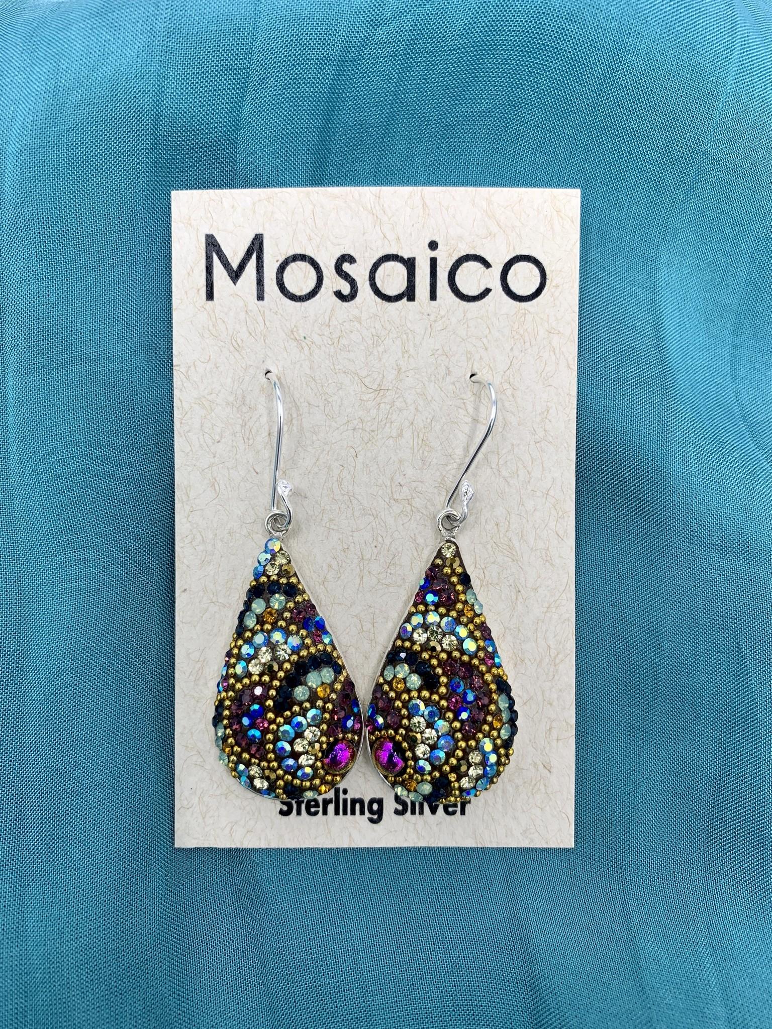 Mosaico Teardrop Earring Deep Multi