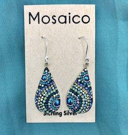 Mosaico Mosaico Teardrop Earring Blue Green