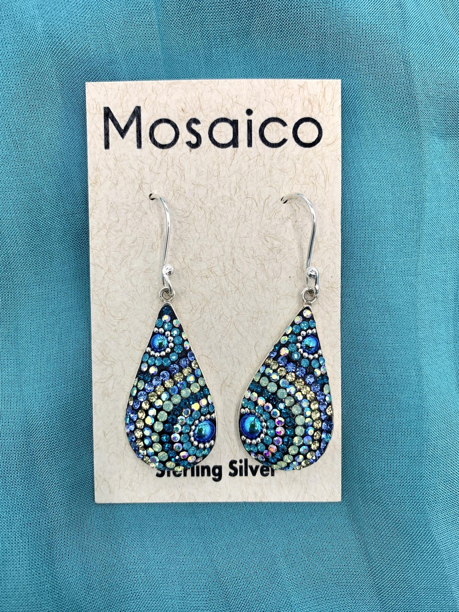 Mosaico Teardrop Earring Blue Green