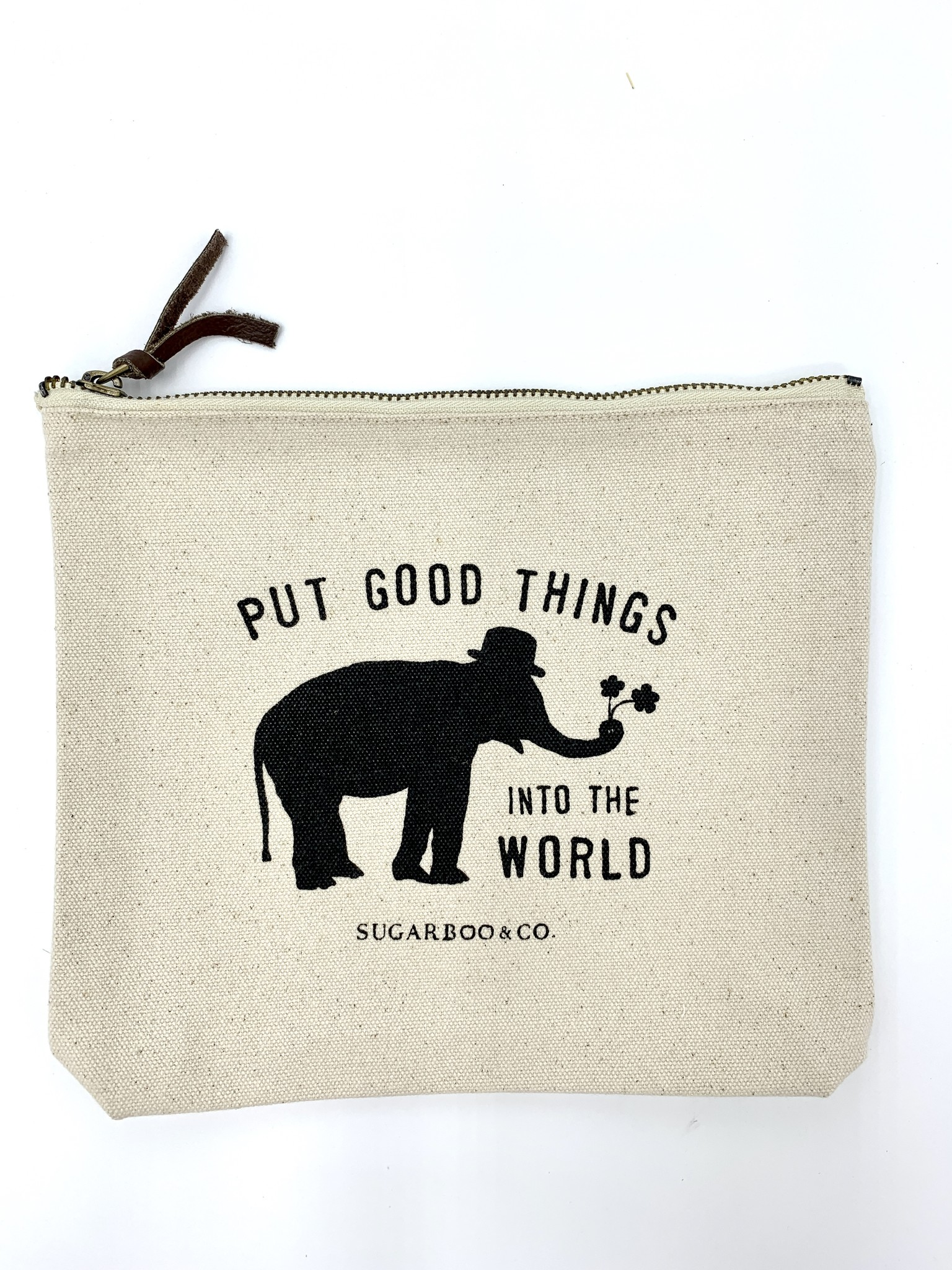 Sugarboo & Co. Sugarboo Canvas Zip Bag - Put Good Things Into The World