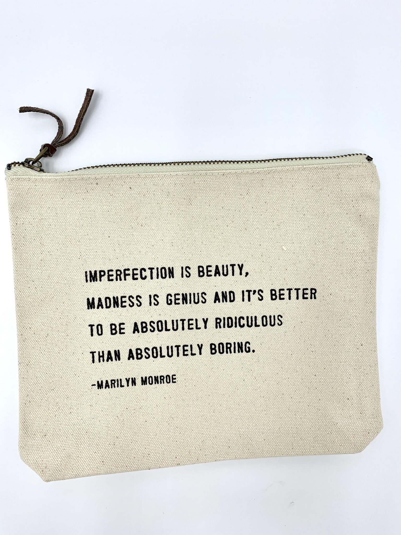 Sugarboo & Co. Sugarboo Canvas Zip Bag - Marilyn Monroe