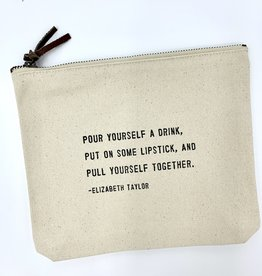 Sugarboo & Co. Sugarboo Canvas Zip Bag - Pull Yourself Together