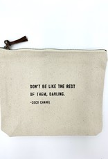 Sugarboo & Co. Sugarboo Canvas Zip Bag - Don't Be Like The Rest