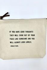 Sugarboo & Co. Sugarboo Canvas Zip Bag - Always Look Lovely