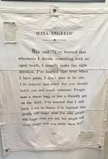 "Sugarboo & Co. Sugarboo 46""x57"" Tarp - Maya Angelou"