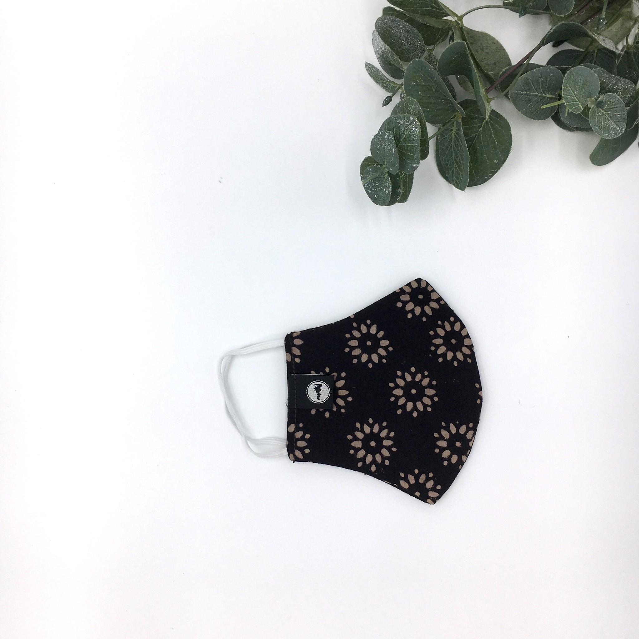 Zwende Block Print Mask - Iron & Wine