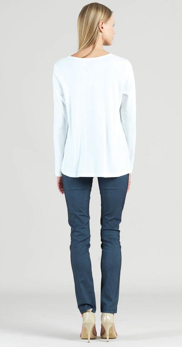 Clara Sun Woo Clara Sunwoo Modal Twist Hem Top - White