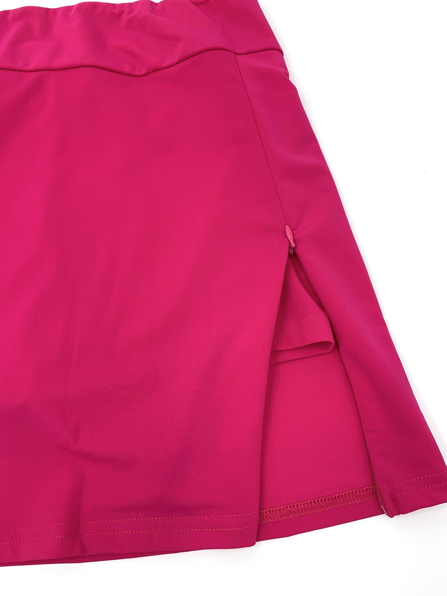Aryeh Solid Skort - Hot Pink
