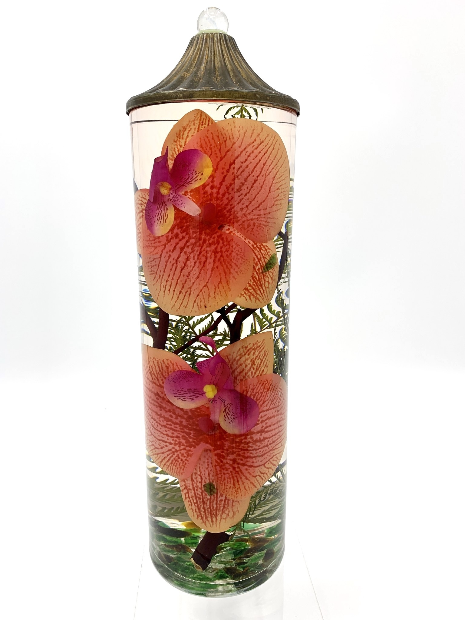 Lifetime Candle Large Cylinder - Coral Orchid