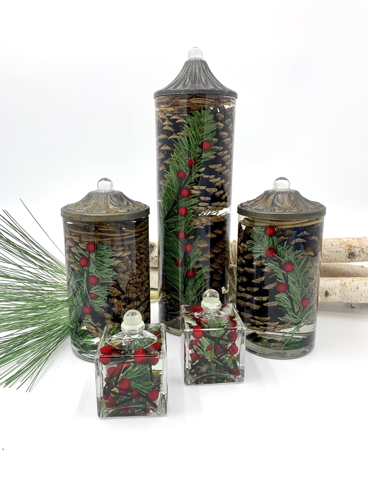Lifetime Candle Large Cylinder - Pinecone