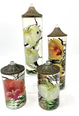 Lifetime Candle Large Cylinder - White Orchid
