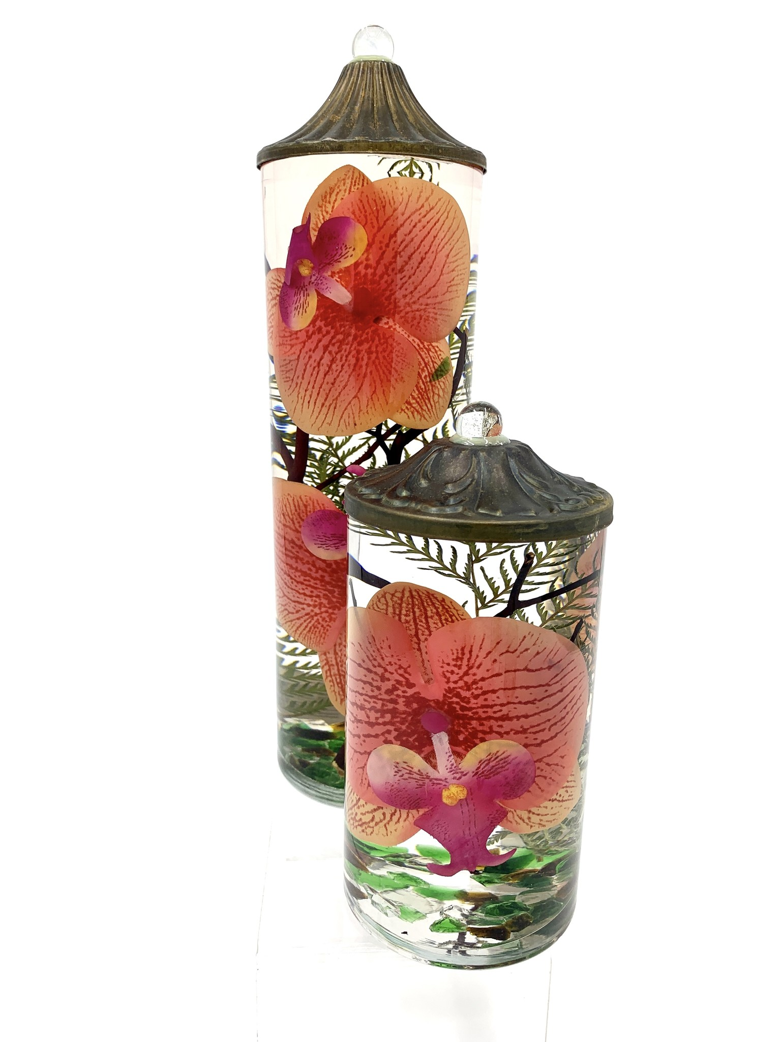 Lifetime Candle Small Cylinder - Coral Orchid