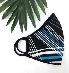 Last Tango Reversible Knit Mask - Blue Streak