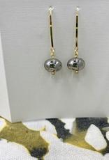 JMR Earrings - Smoke/Gold