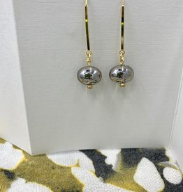 JMR Earrings- Smoke/Gold