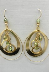 JMR Earrings Green/Gold
