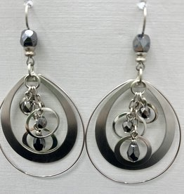 JMR Earrings - Smoke/Silver
