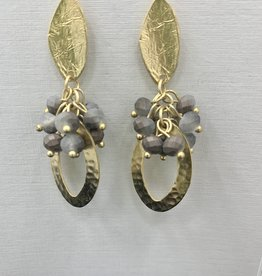 JMR Earrings  - Gold/Stone