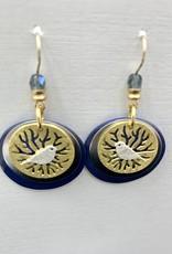 JMR Earrings  - Periwinkle/Gold