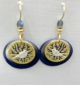 JMR Earrings - Periwinkle/Gold
