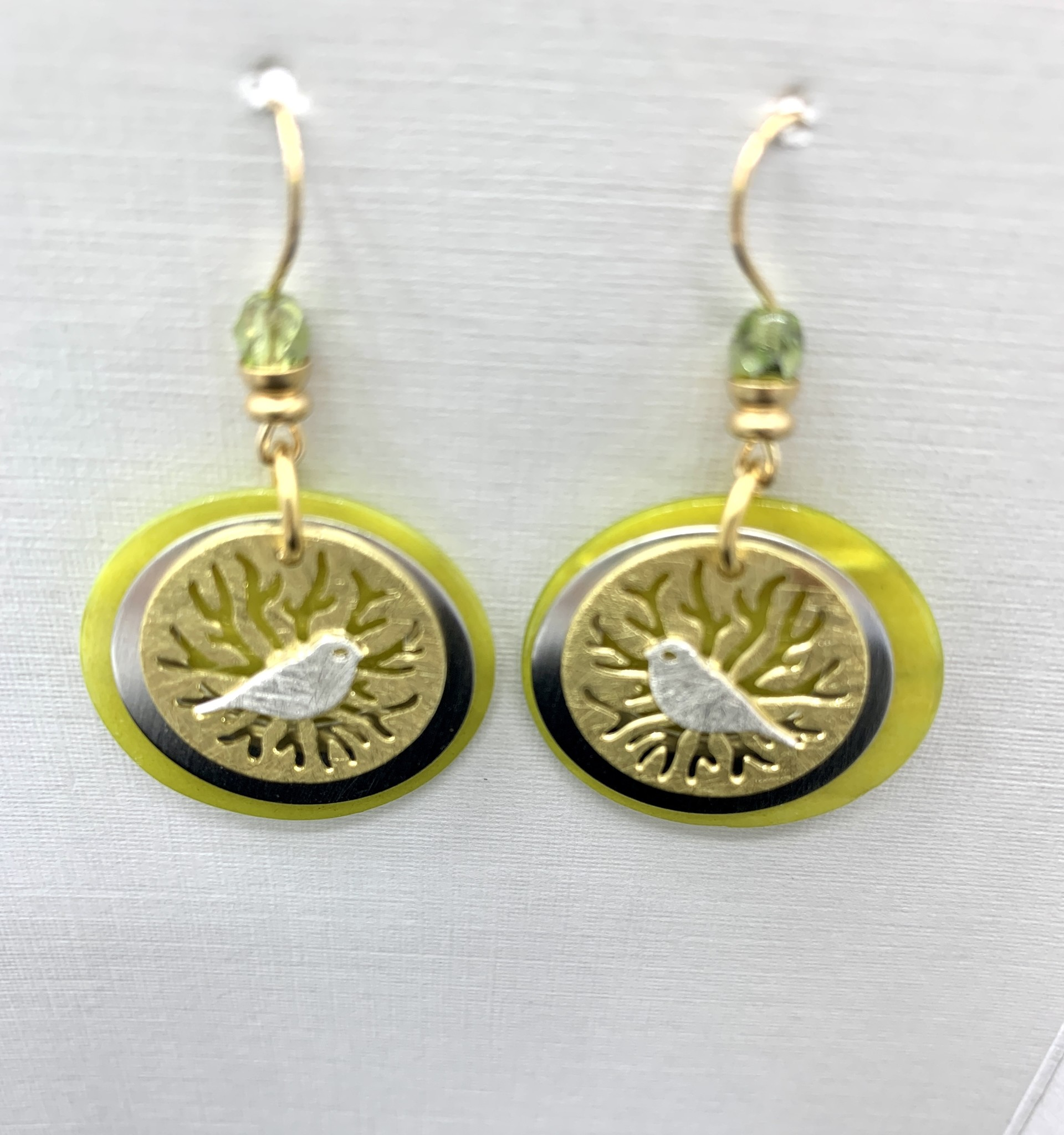 JMR Earrings - Green/Gold