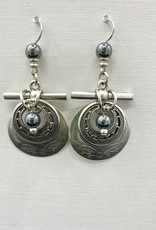 JMR Earrings  - Metal/Silver