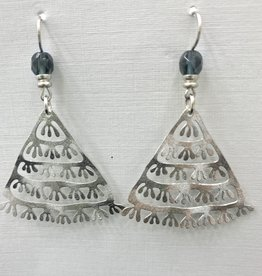 JMR Earrings - Blue/Silver